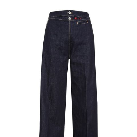 Vader Wide-Leg Pleated Jeans
