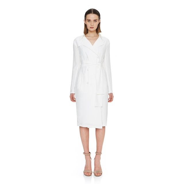 Ty-Lr The Suburban Trench Dress