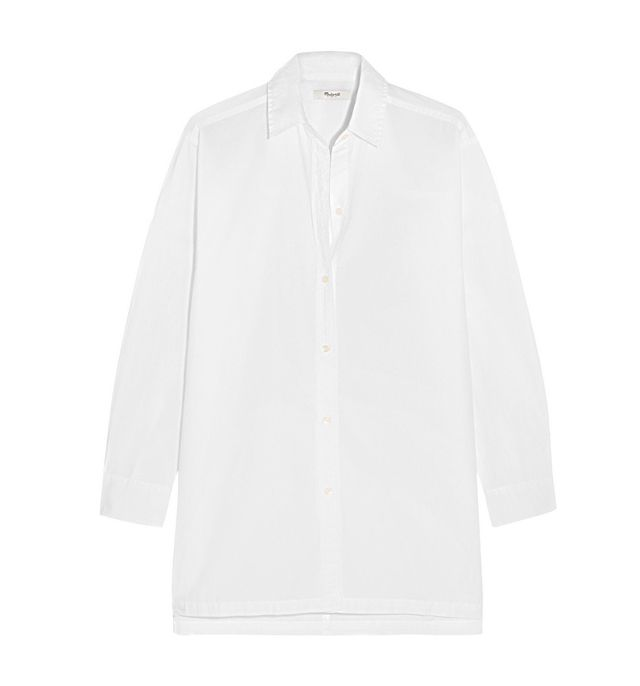 Madewell Oversized Cotton-Poplin Shirt