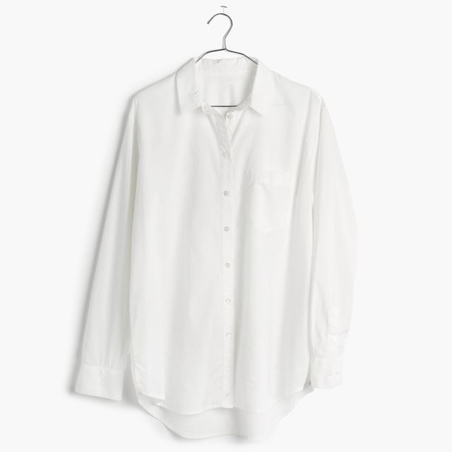 Madewell Oversized Boyfriend Shirt in Pure White