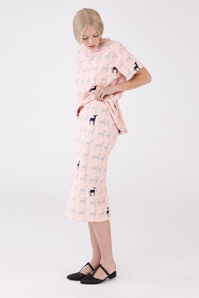 Macgraw Trail Skirt In Lamb Print