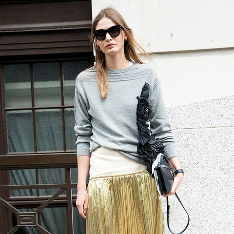 7 Reasons You Need a Metallic Midi Skirt in Your Life