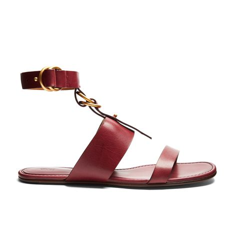 Kingsley Leather Flat Sandals
