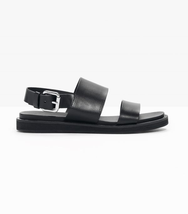 Hermes Oran Sandals: & Other Stories Raw Edge Leather Sandals
