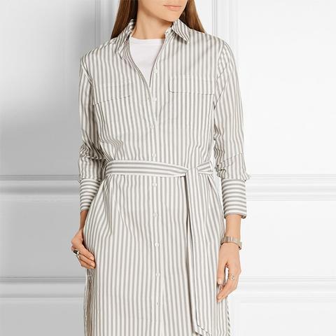 Delany Striped Cotton-Poplin Shirt Dress