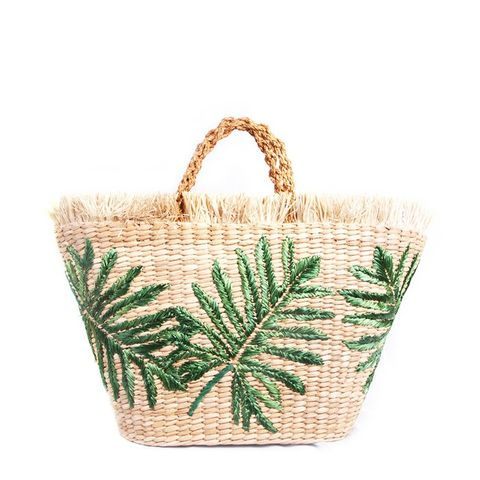 Green Palm Basket Bag