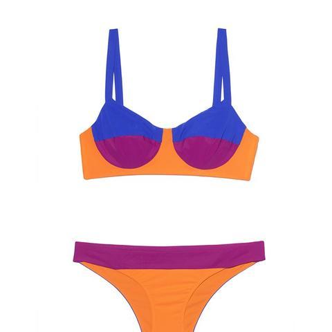 Estes Pink Orange and Blue Bikini