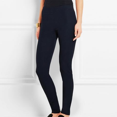 Stretch Gabardine Leggings-Style Pants