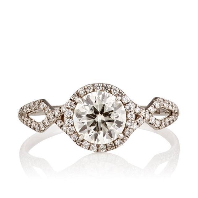 MP Mineraux Brilliant Cut .90 CT White Diamond Ring