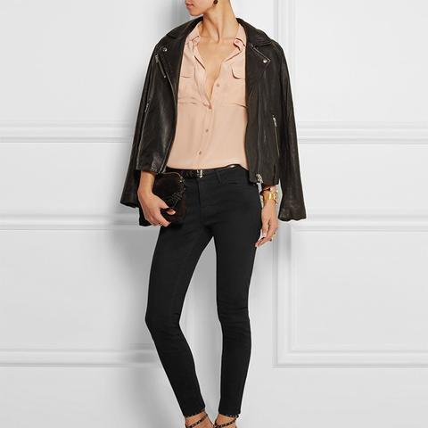 Le Skinny de Jeanne Crop Mid-Rise Jeans