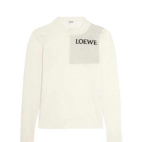 Intarsia Slub Hemp-Blend Sweater