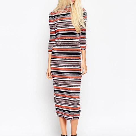 Knit Dress in Stripe