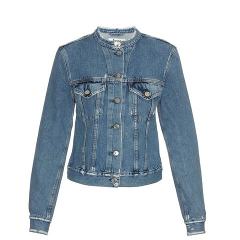 Top Distressed Denim Jacket