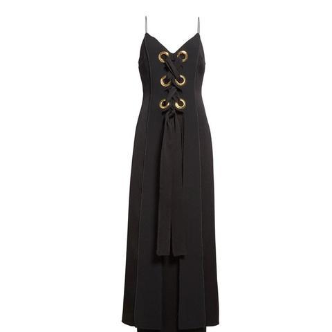Delorean Lace-Up Maxi Dress