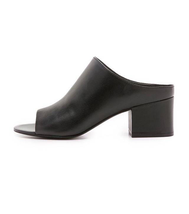 3.1 Phillip Lim Leather Cube Mules