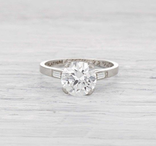 1.51 Carat Art Deco Engagement Ring