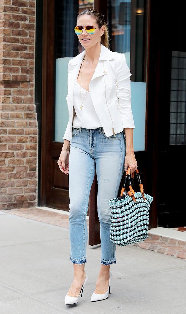 heidi klum skinny jeans
