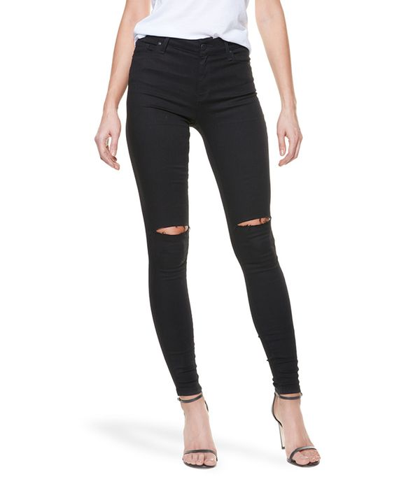 Mott & Bow High Rise Skinny Jeans in Bond