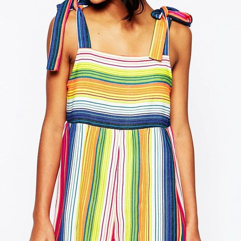 Rainbow Romper with Ties