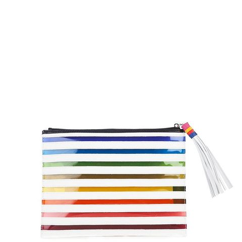 Rainbow Striped Clutch