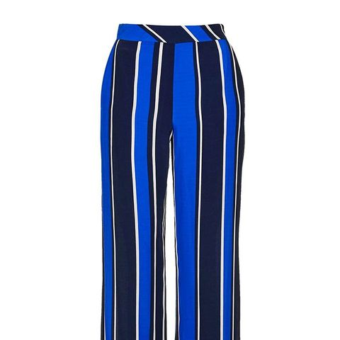 Blue Stripe Slouch Trousers