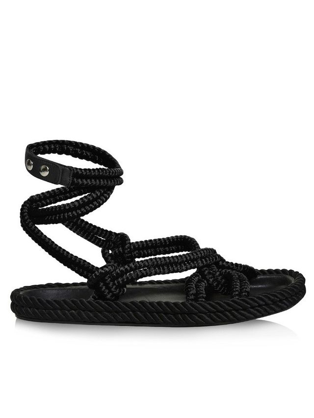 Isabel Marant Lou Wraparound Rope Sandals