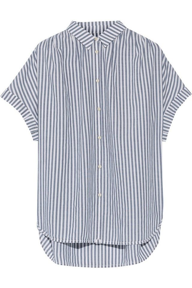 Madewell Striped Cotton-Chambray Shirt