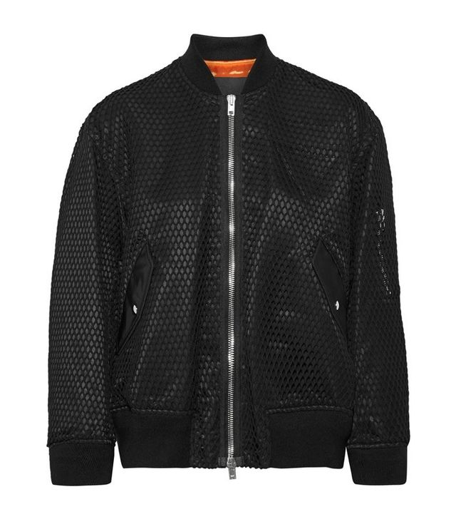 Alexander Wang Net and Shell Bomber Jacket