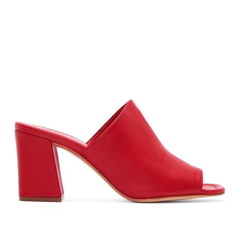 Red Leather Penelope Mules