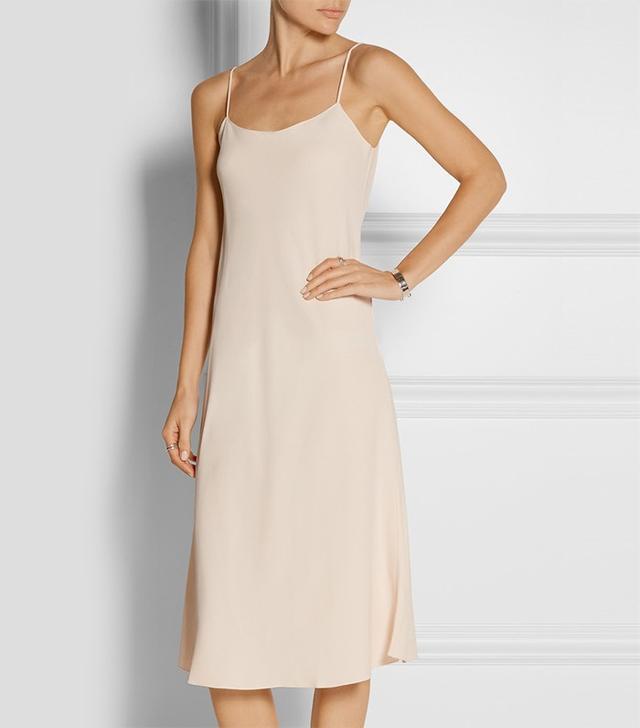The Row Gibbons Crepe Midi Dress