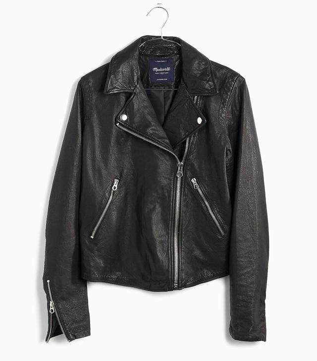 Madewell Washed Leather Motorcycle Jacket
