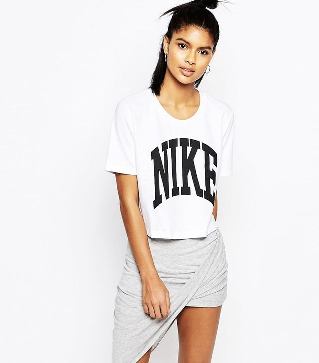 Nike Cropped T-Shirt With Text Logo