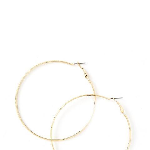 Etched Hoop Earrings