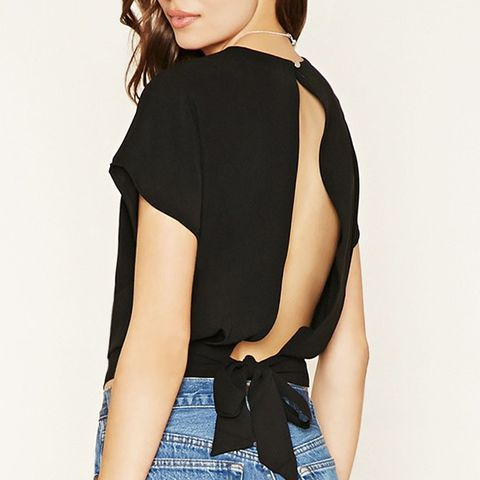 Contemporary Slit Back Top
