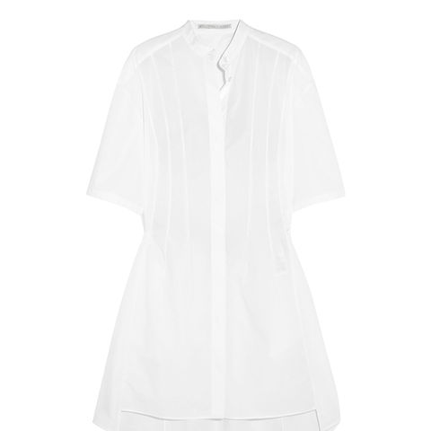 Cotton-Poplin Mini Dress