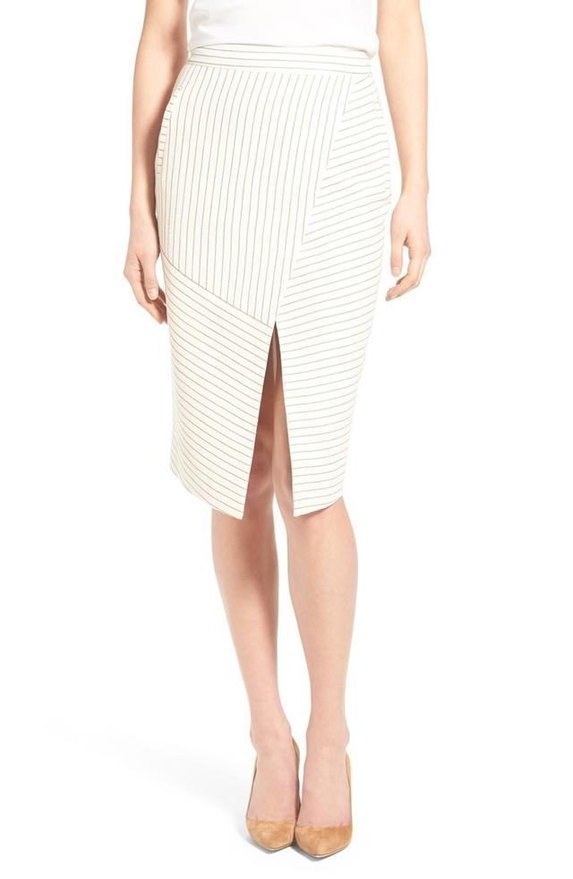 Olivia Palermo + Chelsea28 Stripe Pencil Skirt