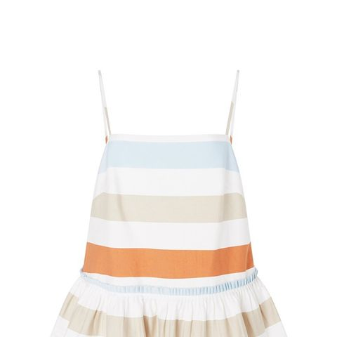 Maura Striped Peplum Top