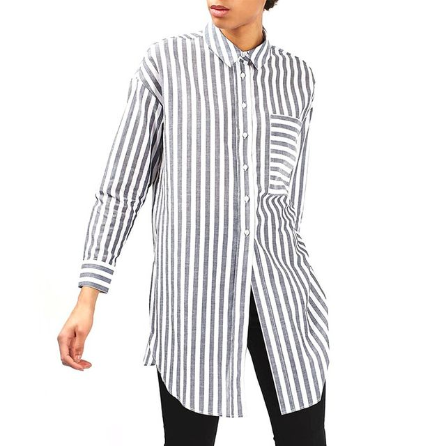 Topshop Stripe Tunic Shirt by Boutique