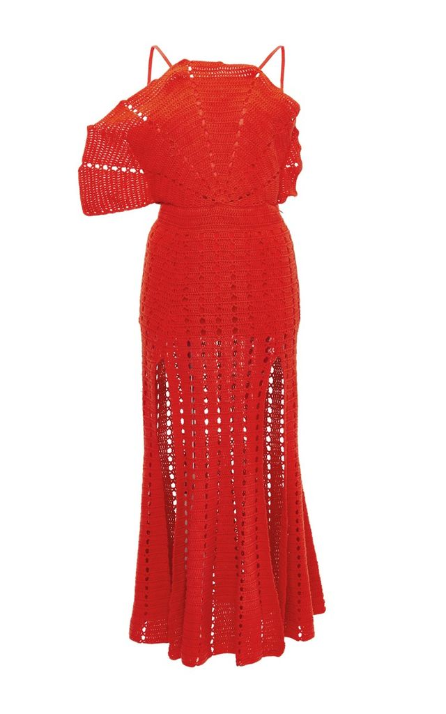 Alice McCall Room Is on Fire Red Cotton Dress