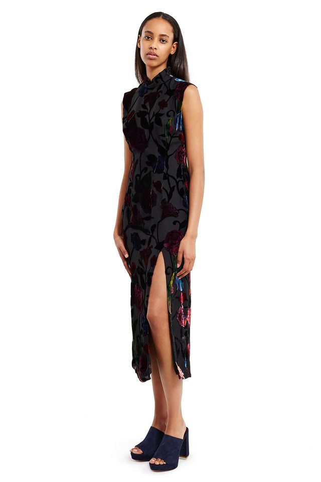 Anna Sui for Opening Ceremony Floral Burnout Velvet Dress