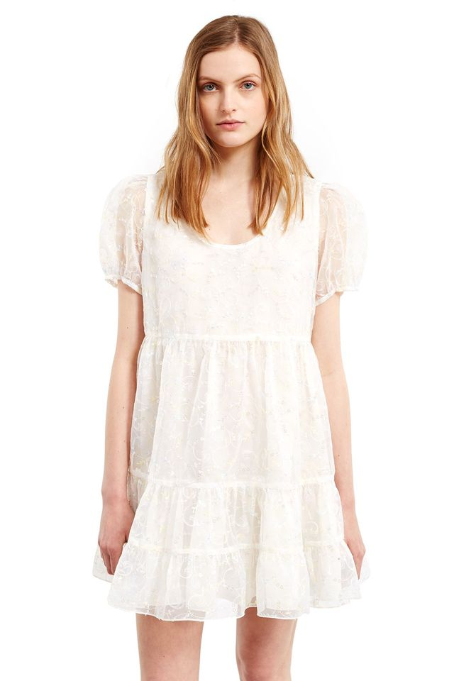 Anna Sui for Opening Ceremony Sequin Embroidered Baby Doll Dress