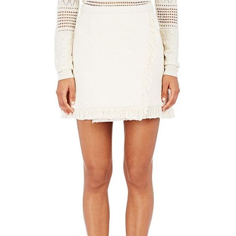 Chevron-Knit Miniskirt