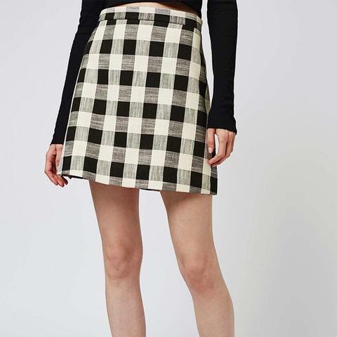 Gingham Bonded Mini Skirt