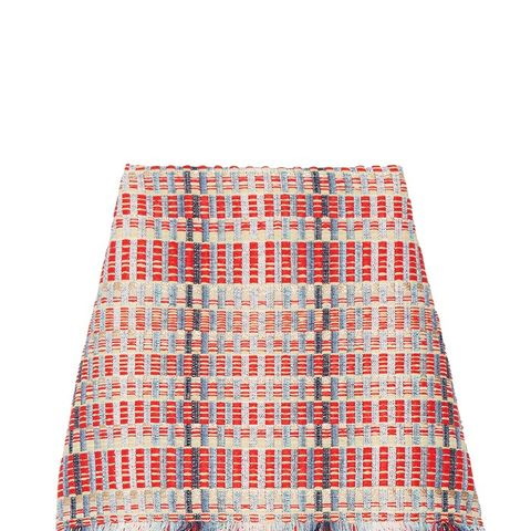 Tara Fringed Metallic Tweed Skirt