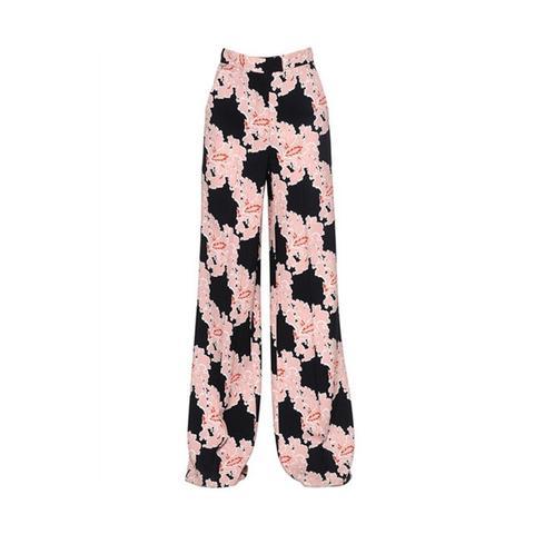 Floral Printed Cady Pants