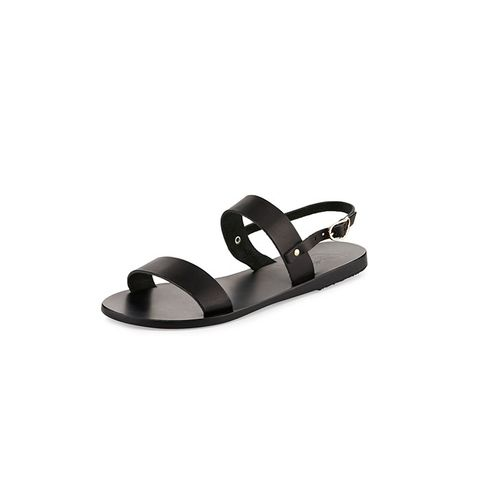 Clio Double-Band Flat Slingback Sandals
