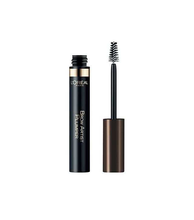 Brow mascara with fibers