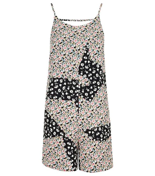 Topshop Tall Patchwork Print Playsuit