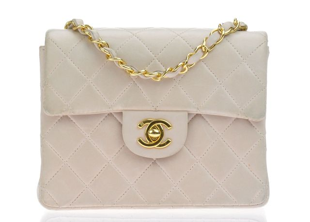 Chanel Quilted Lambskin Leather Square Mini Flap Bag