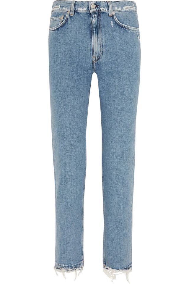 Acne Studios Distressed Mid Rise Jeans